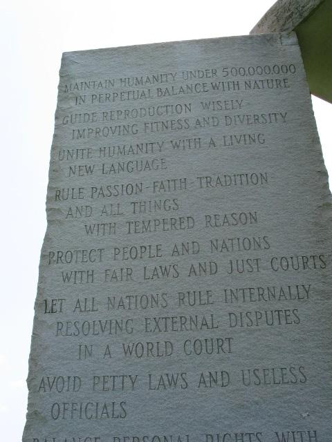 Symbols And Their Links To The New World Order The Georgia Guidestones