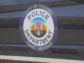 Hardin, Montana - logo na mercedesie Amerykańskich Sił Policyjnych