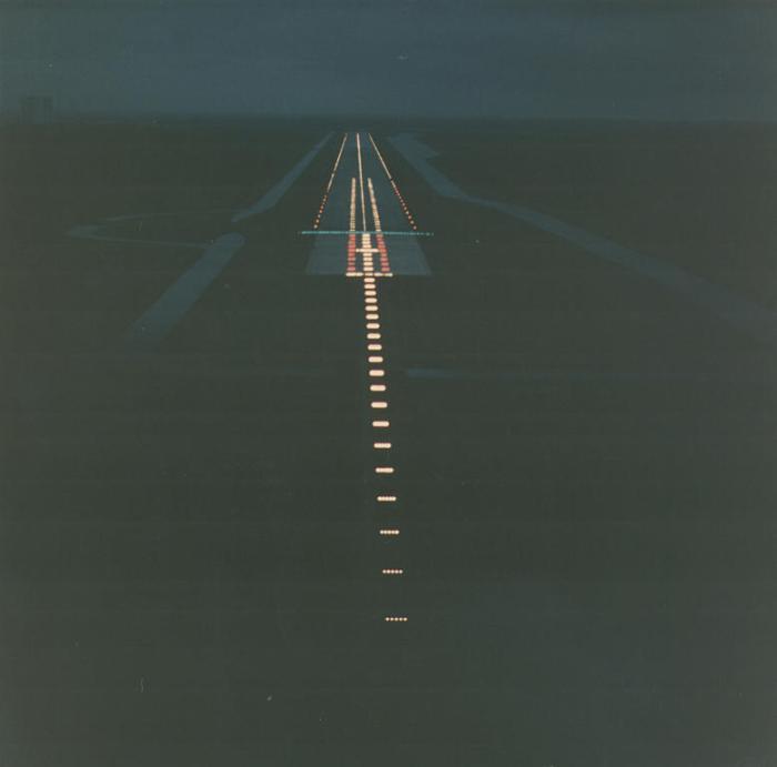 Oświetlony pas startowy