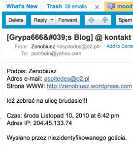 4580736f61932 Dostałem (10.11.2010) treściwy list od Zenobiusza (tak